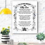 In Loving Memory Of My Son Canvas Prints Wall Art - Matte Canvas