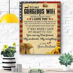 To My Gorgeous Wife Soldier Canvas Print Wall Art - Matte Canvas #87111