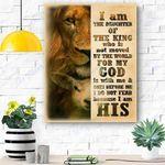 I Am The Daughter Lion Canvas Print Wall Art - Matte Canvas