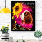 Cavalier King Charles Spaniel My Sunshine Canvas Print Wall Art - Matte Canvas