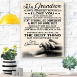 My Dear Grandson Canvas Prints Wall Art - Matte Canvas