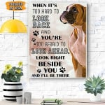 Boxer Dog Canvas Prints Wall Art - Matte Canvas #90190