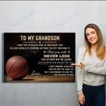 To My Grand Son-grandpa - Matte Canvas