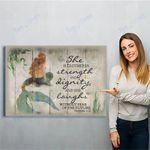 Mermaid Canvas Print Wall Art - Gift For Girl - Matte Canvas