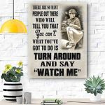 Custom Photo Baseball Personalised Canvas Wall Art - Gift For Son - Matte Canvas
