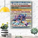 HORSE Resolutions Canvas Print Wall Art - Matte Canvas