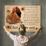 Chicken Canvas Print Wall Art - Gift For Wife - Matte Canvas