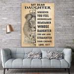 My Dear Daughter Lion Canvas Print Wall Art - Gift For Daughter - Matte Canvas