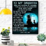 To My Daughter Lion Canvas Print Wall Art - Gift For Daughter - Matte Canvas #80825