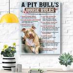 Custom Printing Pit Bull Dog Canvas Print Wall Art - Matte Canvas