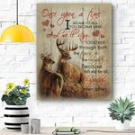 Reindeer Canvas Print Wall Art - Gift For Wife - Matte Canvas #67521