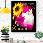 Husky My Sunshine Canvas Print Wall Art - Matte Canvas