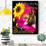 Shetland Sheepdog My Sunshine Canvas Print Wall Art - Matte Canvas