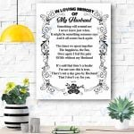 In Loving Memory Of My Husband Canvas Prints Wall Art - Matte Canvas