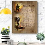 Fire Fighter Remember Me Canvas Print Wall Art - Matte Canvas
