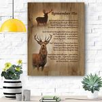 Deer Remember Me Canvas Print Wall Art - Matte Canvas