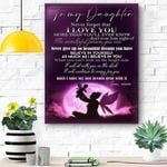 To My Daughter Lion Canvas Print Wall Art - Gift For Daughter - Matte Canvas #63954