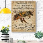 Music Sheet And I Think Bee Canvas Print Wall Art - Matte Canvas