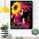 English Springer Spaniel My Sunshine Canvas Print Wall Art - Matte Canvas