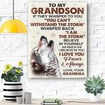 Custom Canvas To My Grandson Canvas Pritn Wall Art - Matte Canvas
