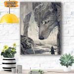 Wolf Art Canvas Prints Wall Art - Matte Canvas
