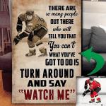 Custom Photo Hockey Canvas Prints Wall Art - Matte Canvas