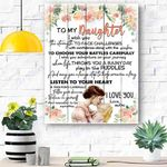 To My Daughter Canvas Print Wall Art - Gift For Daughter - Matte Canvas #40920