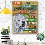 West Highland White Terrier Dog Canvas Prints Wall Art - Matte Canvas