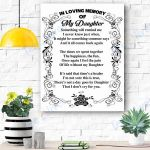 In Loving Memory Of My Daughter Canvas Prints Wall Art - Matte Canvas