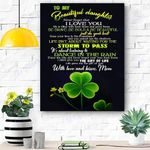 To My Daughter Canvas Print Wall Art - Gift For Daughter - Matte Canvas #57192