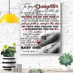 To My Daughter Canvas Print Wall Art - Gift For Daughter - Matte Canvas #44782