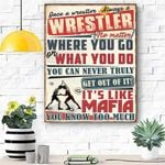 Wrestler Canvas Prints Wall Art - Matte Canvas
