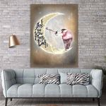 To My Daughter Moon Canvas Print Wall Art - Gift For Daughter - Matte Canvas
