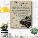 Custom Canvas Coldplay Fix You Canvas Print Wall Art - Matte Canvas