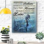 Mermaid When You Believe Canvas Print Wall Art - Matte Canvas