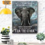 Elephant The Devil Whispered Canvas Prints Wall Art - Matte Canvas