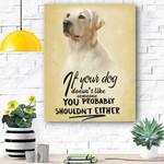 Labrador Dog Canvas Prints Wall Art - Matte Canvas #35876