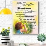 To My Daughter Canvas Print Wall Art - Gift For Daughter - Matte Canvas #35806