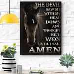 Horse The Devil Canvas Print Wall Art - Matte Canvas
