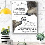 To My Mom Wolf Canvas Print Wall Art - Matte Canvas