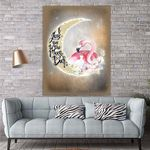 My Dear Daughter Flamingo Canvas Print Wall Art - Gift For Daughter - Matte Canvas