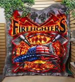 Custom Blanket FIREFIGHTER USA Blanket - Perfect Gift For Dad - Quilt Blanket