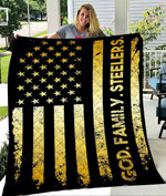 Custom Blanket God Family Steelers Football Quilt Blanket - Quilt Blanket