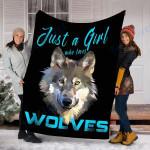 Custom Blanket Wolf Blanket - Perfect Gift For Girl 22 - Fleece Blanket