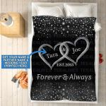 Custom Blankets - Mr And Mrs Personalized Blanket - Fleece Blanket