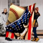 Customs Blanket Baseball Flag USA Blanket - Fleece Blanket