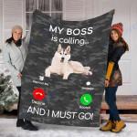 Customs Blanket Husky Dog Puppy Dog Blanket - Fleece Blanket