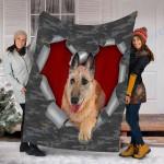 Customs Blanket Laekenois Dog Blanket - Fleece Blanket