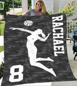 Custom Blankets Volleyball Personalized Name Blanket - Fleece Blanket