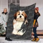 Customs Blanket Lhasa Aps Inside Me Dog Blanket - Fleece Blanket